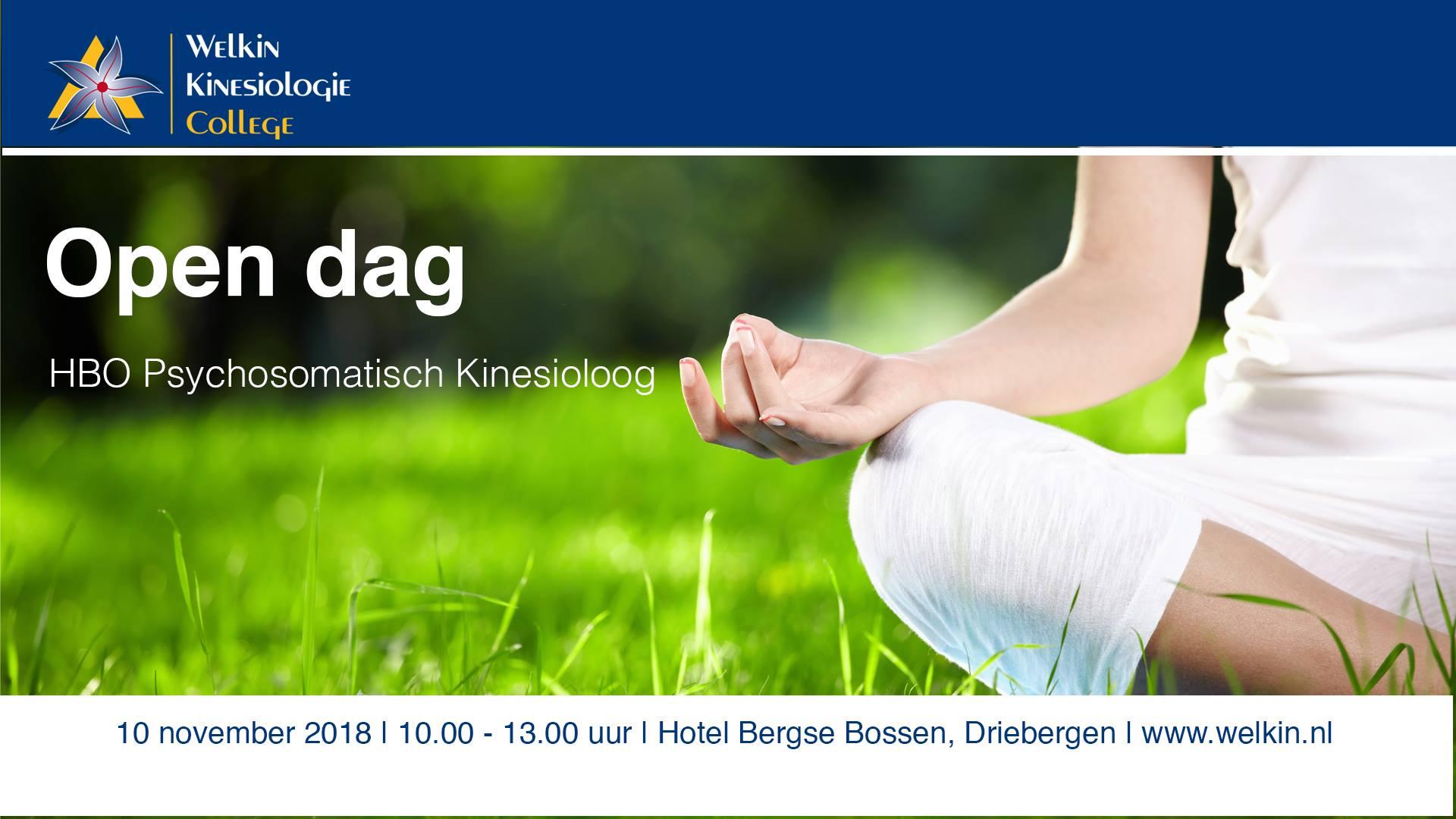 10 November 2018: Open Dag Welkin Psychosomatisch Kinesioloog